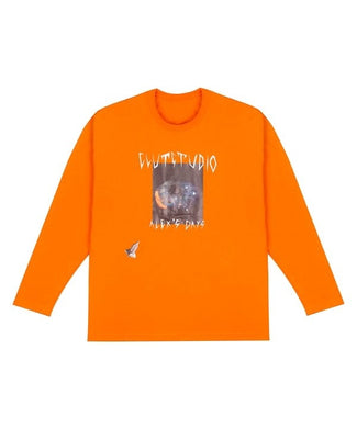 0 2 space eye t-shirt - ORANGE