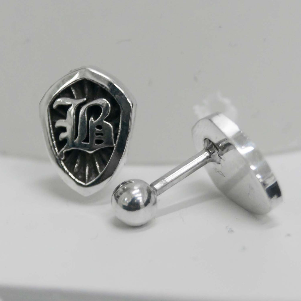 """B shield"" ピアスセット/""B shield"" Earrings set"