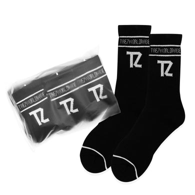TZ CREW SOCKS BLACK (3 PACK)