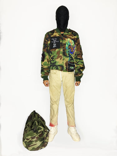 HAND EMBROIDERY JUMPER CAMO