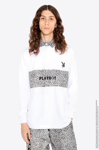 Playboy Leopard Polo / WHITE × LEOPARD
