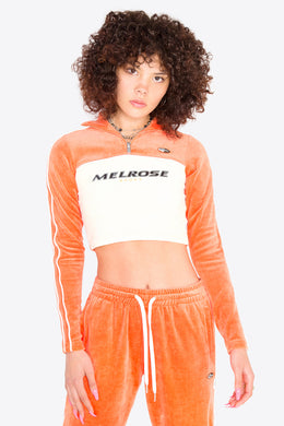 Velour Half-zip Top / ORANGE