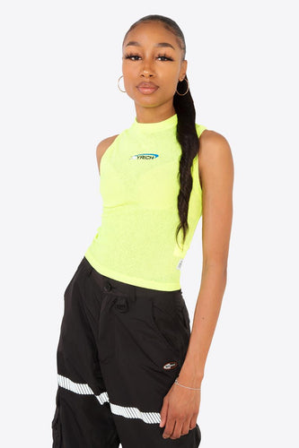 Melrose Sports Crop Top / NEON YELLOW