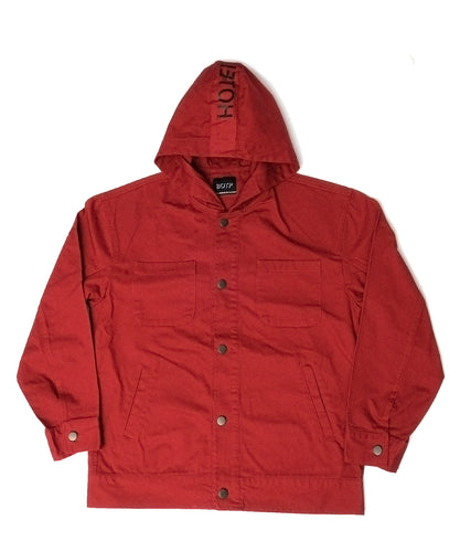 WASHED HOOD TRUCKER - RED, BLACK