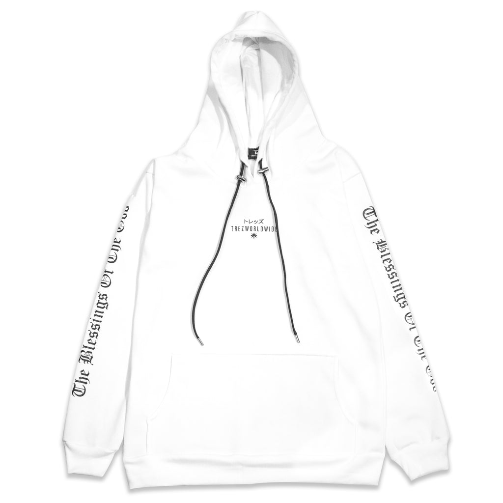 """God is Dope"" フード付きパーカー