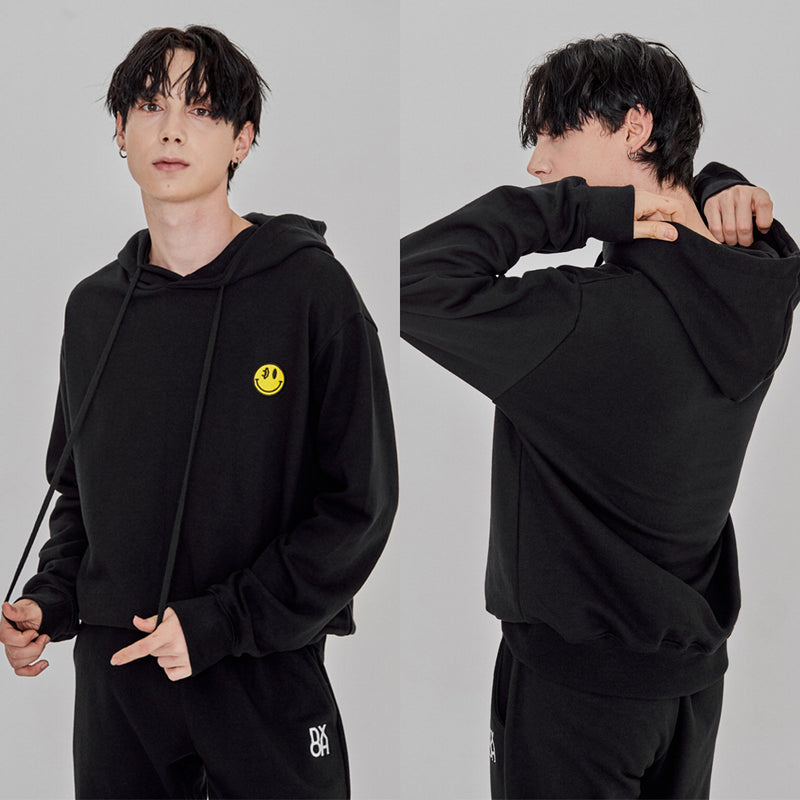 DXOH SMILE PATCH HOODIE 2COLOR - スマイルパッチフーディー 2カラー