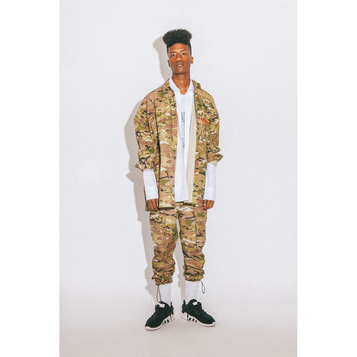 LWLB CAMO BIG SHIRT BEIGE