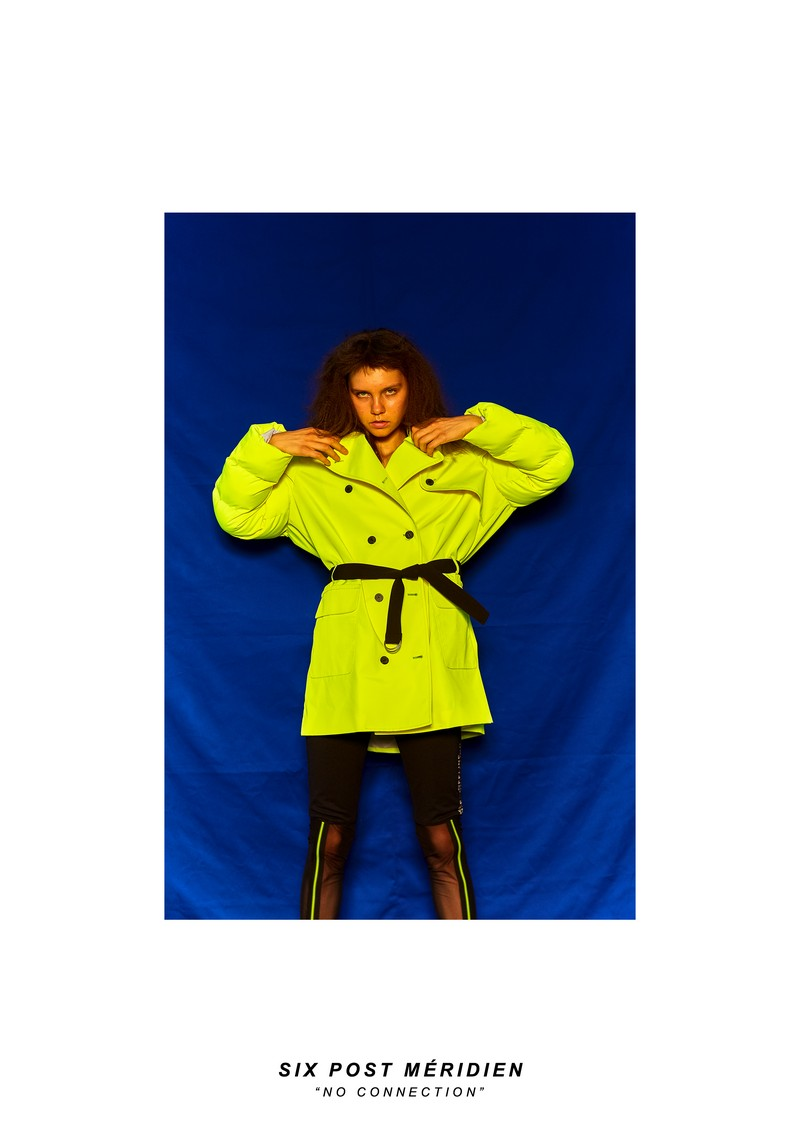 SIX P.M.ネオン特大トレンチコート/SIX P.M. Neon oversized trench coat