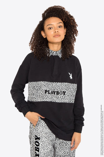 Playboy Leopard Polo / BLACK × LEOPARD