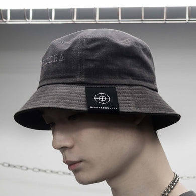 [BLESSEDBULLET]faded oversize bucket hat