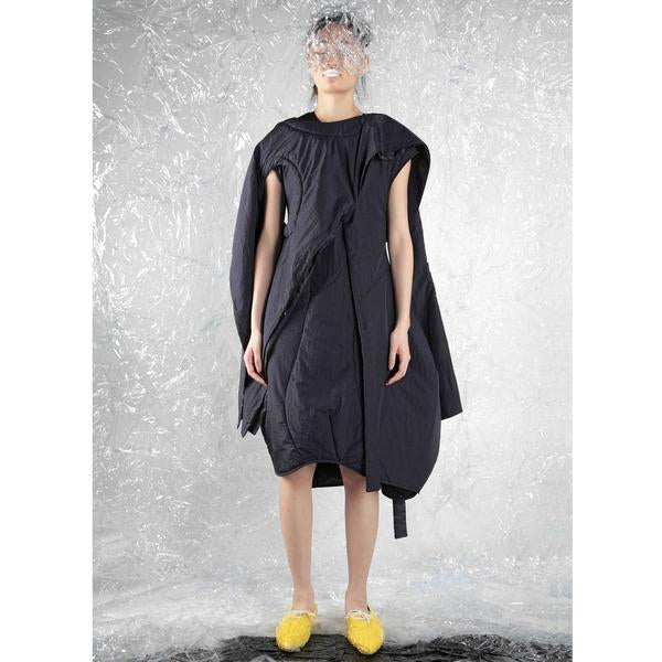 Long Cape - Triple Exits (Padded) - BLACK