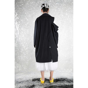 Long Coat Open Drop - NAVY