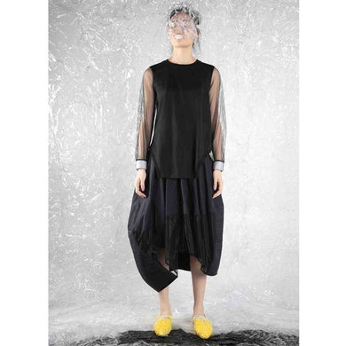 Top - Padded Cape - BLACK