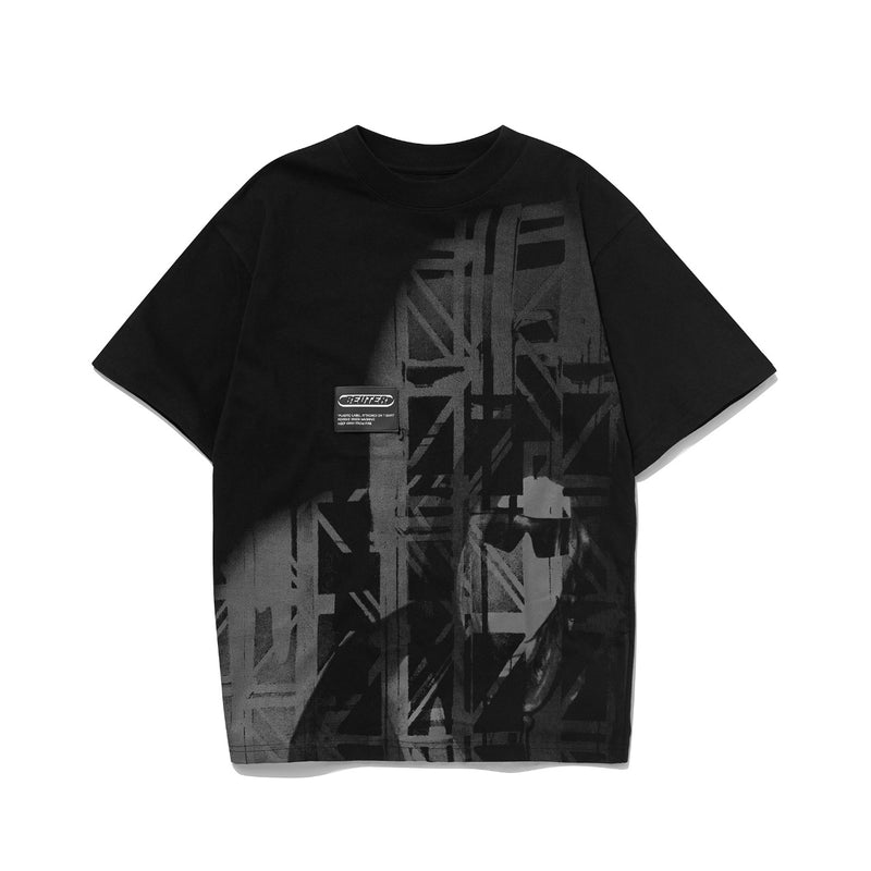 コンセプトパッチTシャツ / BEUTER CONCEPT PATCH BLACK T-SHIRT