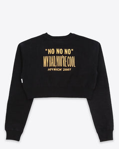 Killjoy Crop Crewneck / BLACK