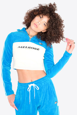 Velour Half-zip Top / BLUE