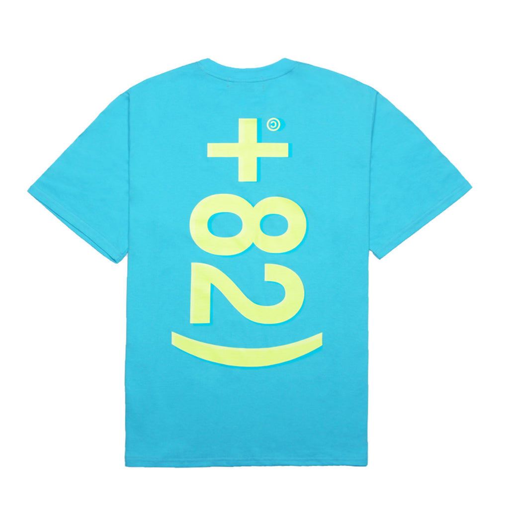 +82 Tシャツ / +82 T-SHIRTS_AQUA BLUE/NEON YELLOW