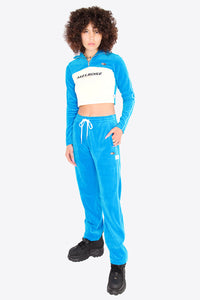 Velour Pants / BLUE