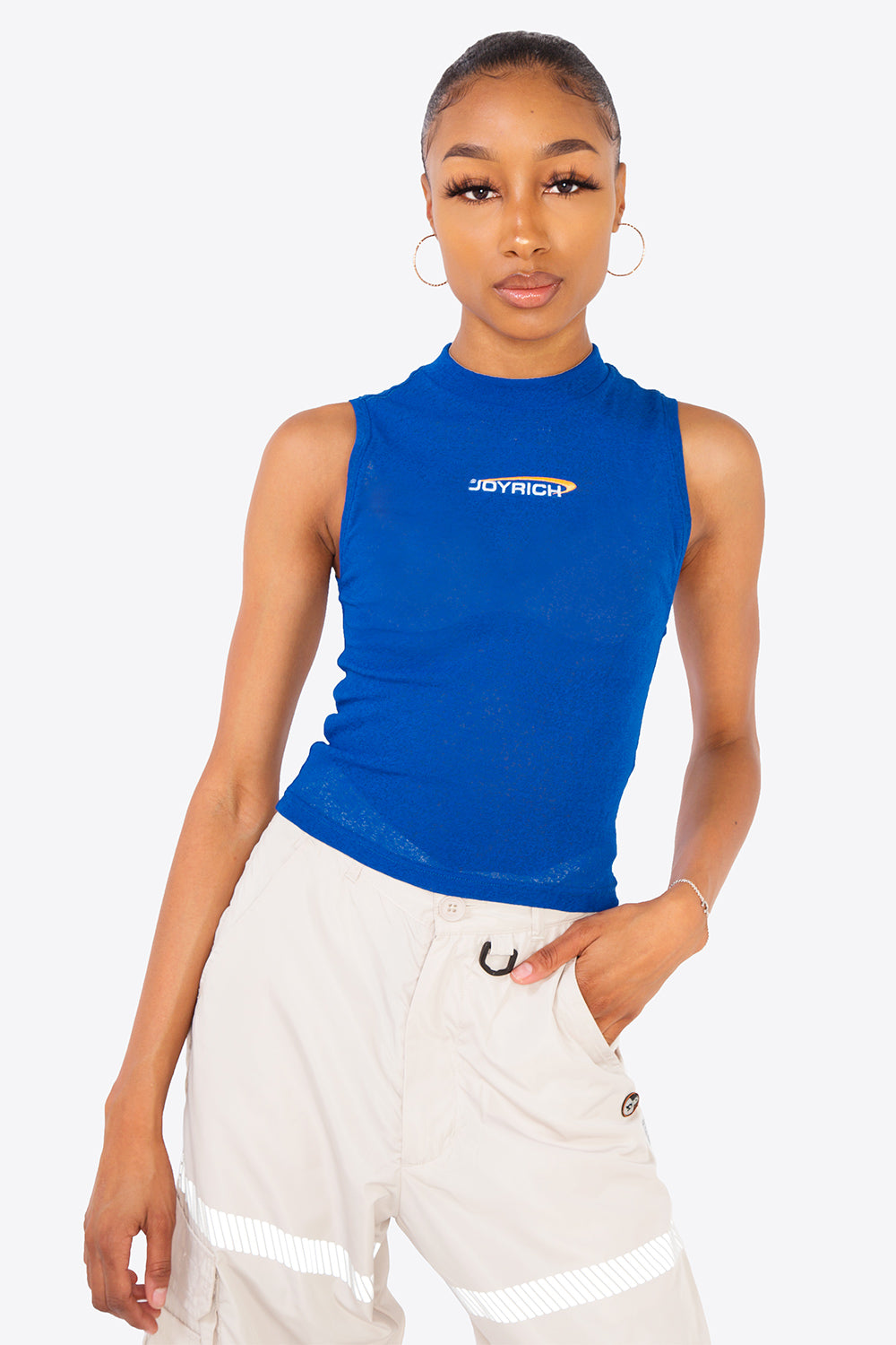 Melrose Sports Crop Top / BLUE