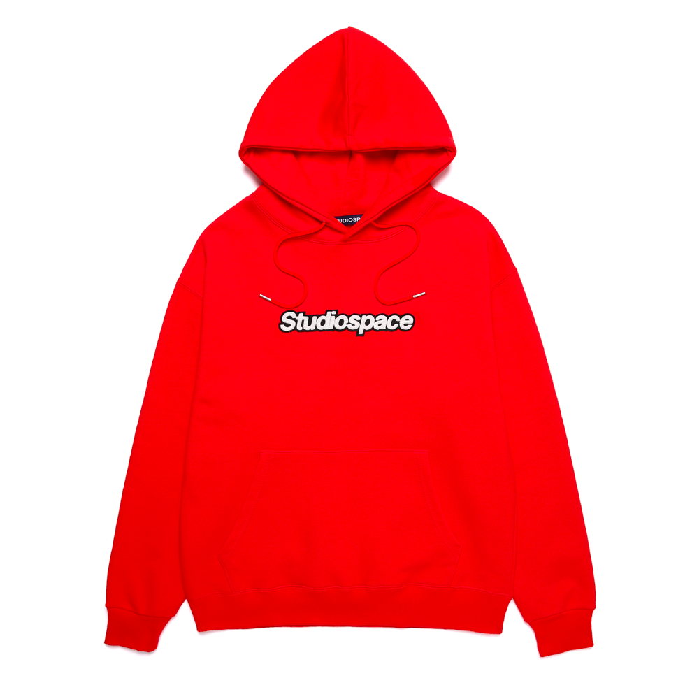 AQO ロゴパーカー レッド / AQO HOODIE WITH LOGO RED