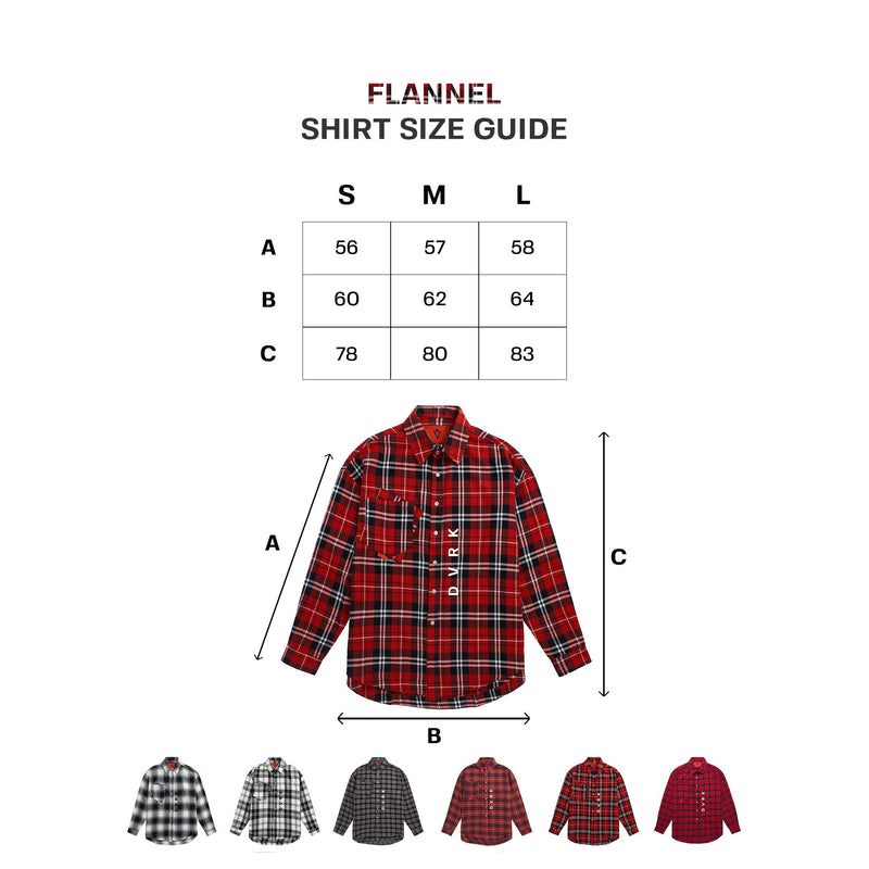 チェックフランネルシャツ/DVRK CHECKED FLANNEL SHIRT - WHITE/BLUE
