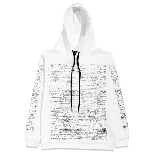TZ EQUATIONS HOODIE WHITE