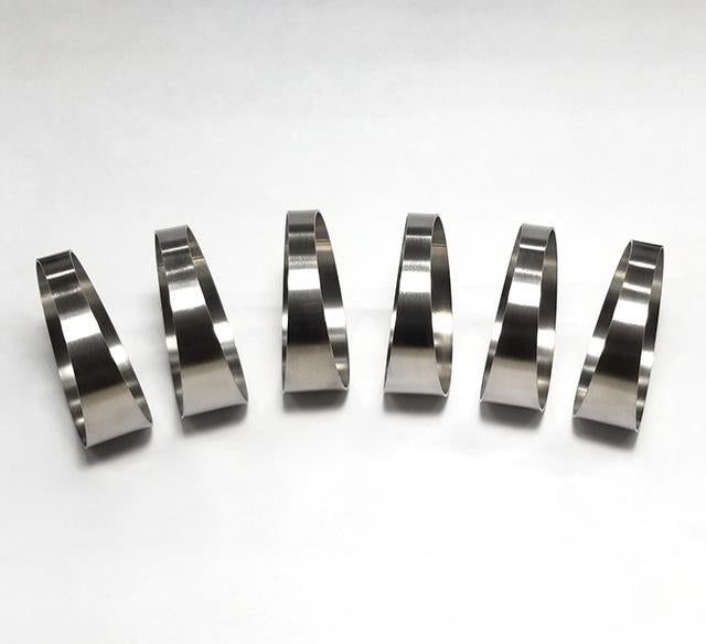 "2.5"" Pie Cut 7.5° 1mm/.039"" 1.5D Loose Radius - 6 pack (90° Total)"