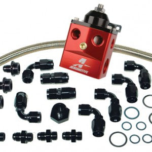 A4 Dual Carburetor Regulator (P/N 13203) Kit ; includes regulator, hose, hose ends and fittings.