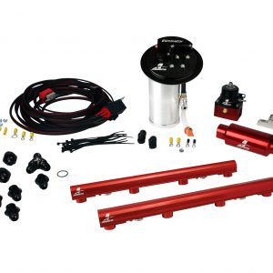 System, 10-13 Mustang GT, 18695 Elim, 14116 4.6L 3V Rails, 16307 Wire Kit & Misc. Fittings.