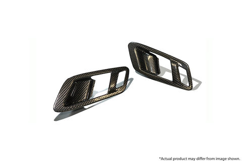 Revel GT Dry Carbon Inner Door Handle Cover Set for Toyota GR Supra