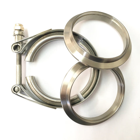 "5"" Titanium V-Band Assembly (2 Flanges & 1 Clamp)"