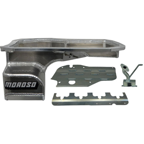 Moroso Road Race Oil Pan 2001-2007 Mitsubishi Evo 7, 8, 9 Baffled