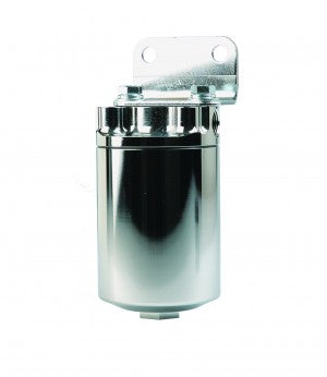 Filter, Canister, 10-Micron Fabric Element , 3/8in NPT Port, Nickel-Chrome Plate, PLATINUM SS SERIES