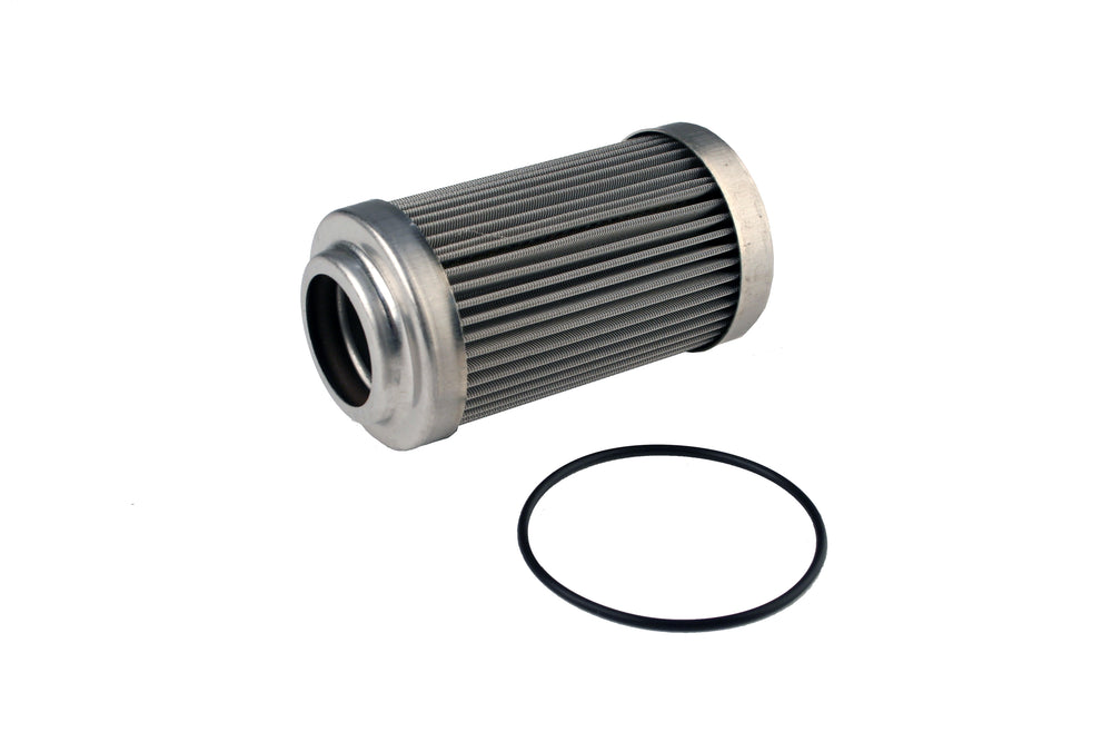 Fuel Filter, Bulkhead, AN-12, 100 Micron Stainless Steel.