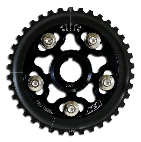 Tru-Time Adjustable Cam Gear. Black. 5-Bolt. Honda D15B7, D16A6 & D16Z6