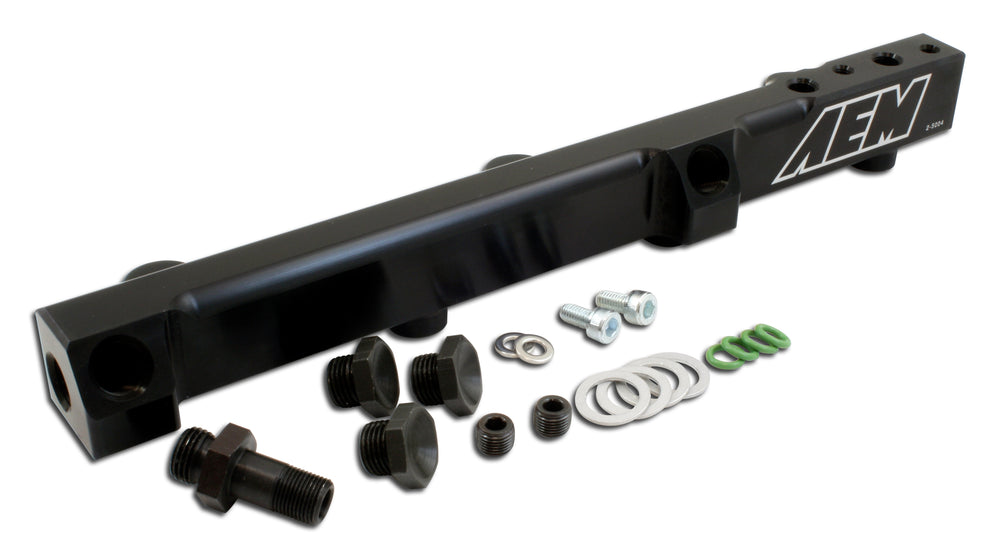 High Volume Fuel Rail, Black Anodized, Fits Honda F22A1, F22A4, F22A6, H22A1, H22A4 and H23A1 engine
