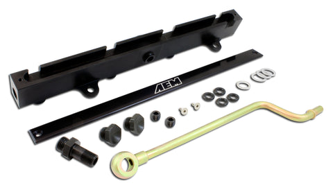 High Volume Fuel Rail, Black Anodized, Fits Acura K20A2, K20A3 and K20Z1 engines. Fits Honda K20A3 e