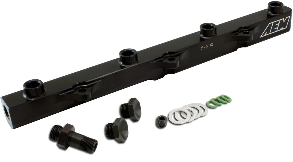 High Volume Fuel Rail, Black Anodized, Fits Honda F20C1 and F22C1 engines