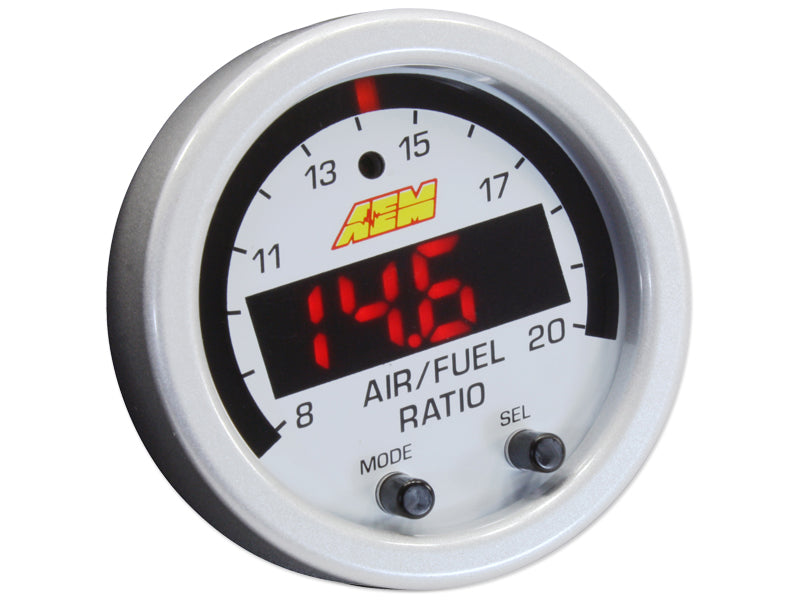 X-Series Wideband UEGO AFR Sensor Controller Gauge Accessory Kit, Includes Silver Bezel and White AF