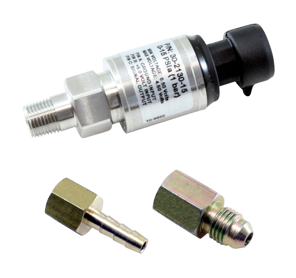 15 PSIa or 1 Bar Stainless Sensor Kit, Stainless Steel Sensor Body, 1/8-inch NPT Male Thread, Includ