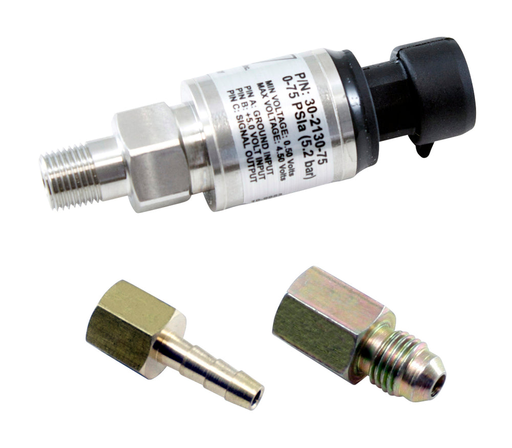 75 PSIa or 5 Bar Stainless Sensor Kit, Stainless Steel Sensor Body, 1/8-inch NPT Male Thread, Includ