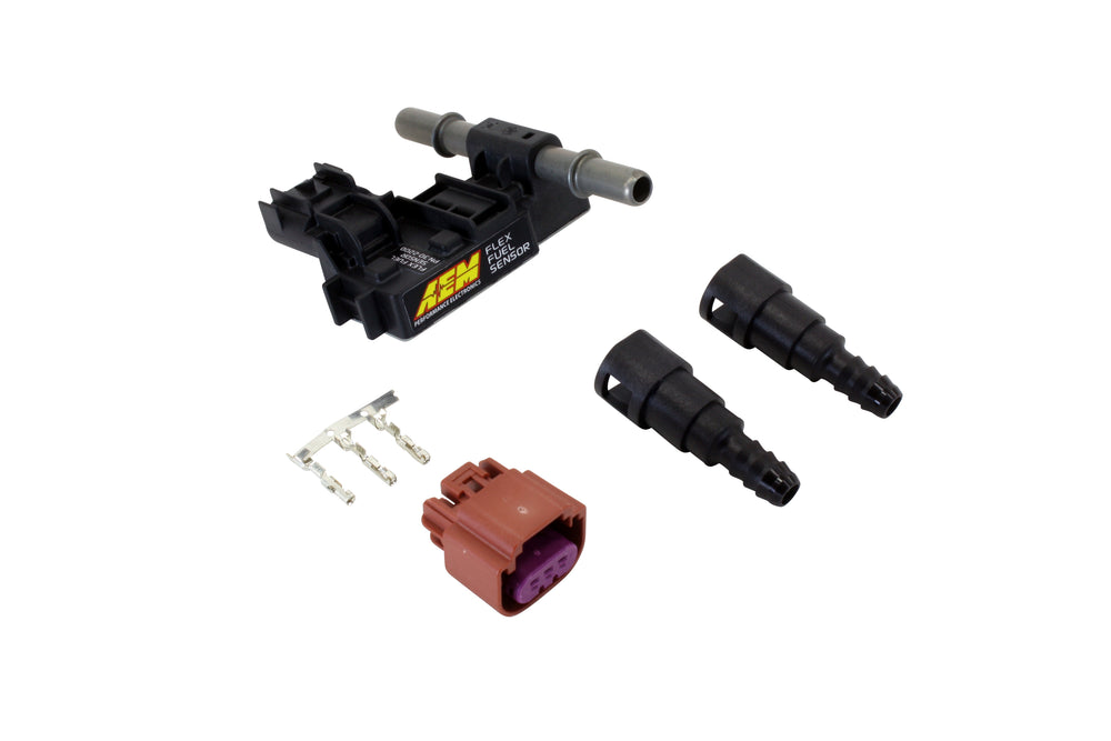 Ethanol Content Flex Fuel Sensor Kit with 3/8-inch Barbed Fittings, Includes Flex Fuel Content Senso