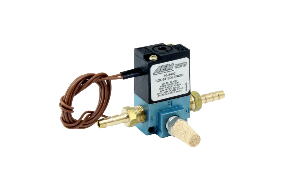 Boost Control Solenoid Kit, Includes 3-Port Boost Control Solenoid, 2 X 1/8-inch NPT to 3/16-inch Ba