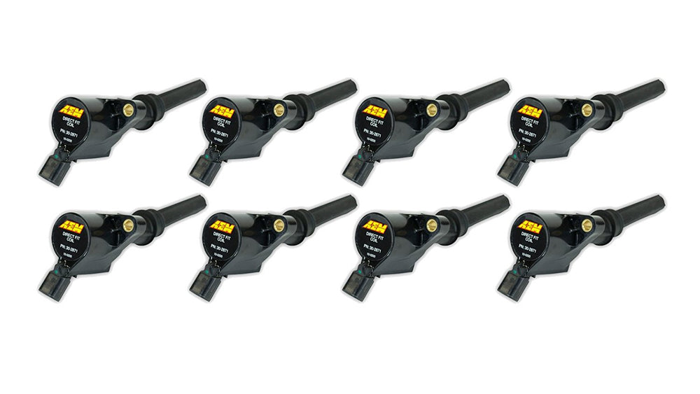 Ford 1998-2014 4.6/5.4/6.8 2V SOHC, Direct fit performance ignition coil (8-Pack)
