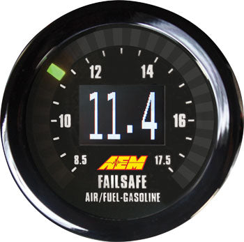 Wideband Failsafe Gauge, Monitor AFR and boost or vacuum, programmable engine protection, internal d