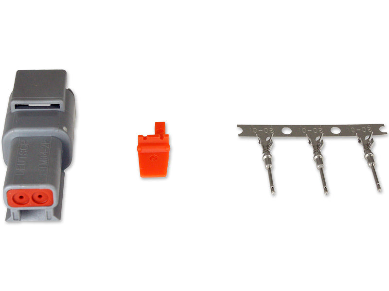 DTM-Style 2-Way Receptacle Connector Kit, Includes Receptacle, Receptacle Wedge Lock and 3 Male Pins