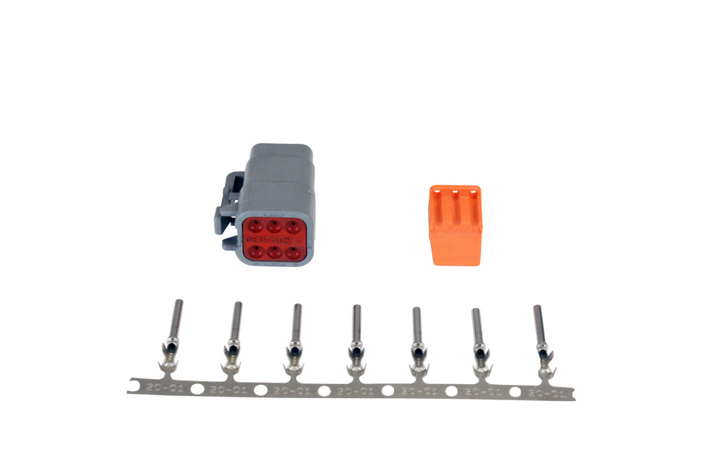 DTM-Style 6-Way Plug Connector Kit, Includes Plug, Plug Wedge Lock and 7 Female Pins