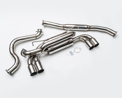 Stainless Steel Catback Exhaust System and Tips Subaru STI, WRX Hatch 11-14