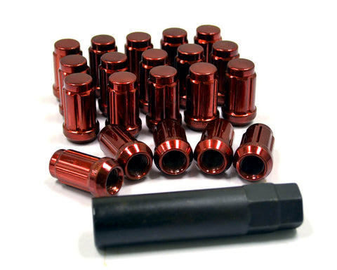 12x1.50 Closed End Wheel Lug Nuts Red