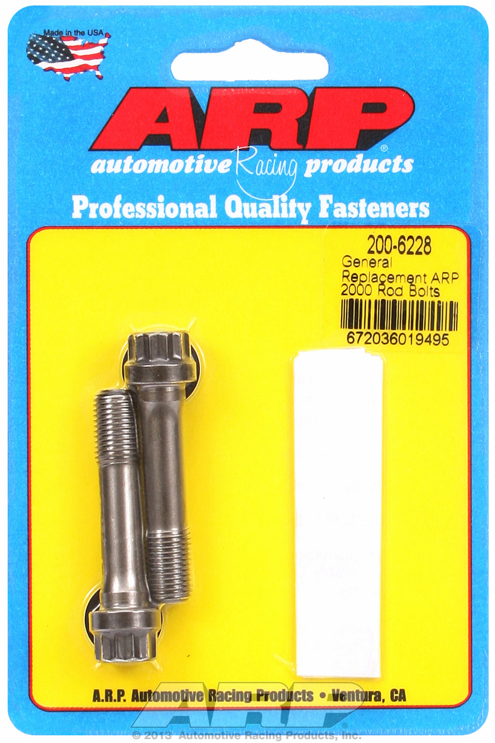 ARP2000 General Replacement Rod Bolt Kit 2-pc